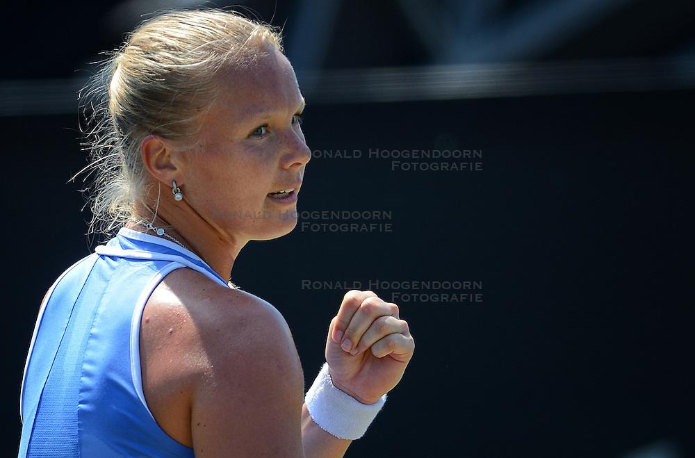 20150611 NED: Tennis Topshelf Open Day 4, Rosmalen<br /> Kiki Bertens heeft zich in Rosmalen onder de laatste acht geschaard dankzij een zege op Anastasia Pavljoetsjenkova. Ze versloeg de als zesde geplaatste Russin met 6-2, 6-2