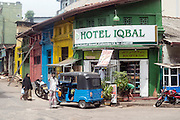 Hotel Iqbal on the corner of Hultsdorf Street in Colombo 12.
