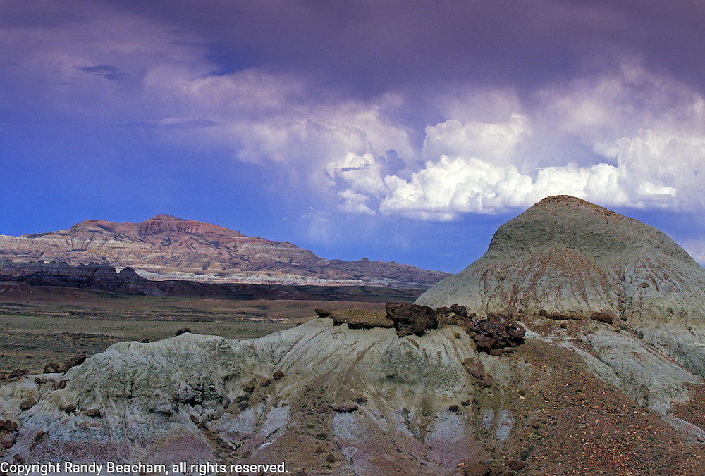 Thunderheads over Continental Peak in the Red Desert. Great Divide Basin, Wyoming