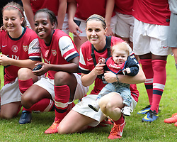 Baby Smith isnt impressed by mother's win  - Photo mandatory by-line: Nigel Pitts-Drake/JMP - Tel: Mobile: 07966 386802 01/06/2014 - SPORT - FOOTBALL - LADIES - Stadium mk - Milton Keynes - Arsenal Ladies v Everton Ladies - The FA Women's Cup Final