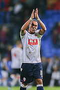 Bolton Wanderers midfielder Neil Danns  during the Sky Bet Championship match between Bolton Wanderers and Brentford at the Macron Stadium, Bolton, England on 30 November 2015. Photo by Simon Davies.
