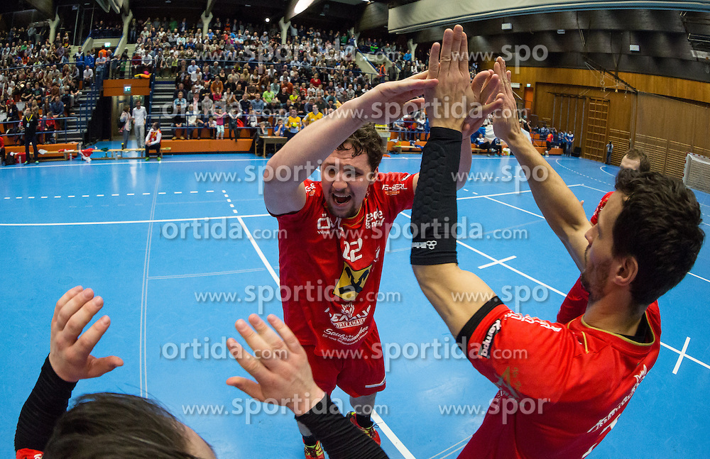 12.03.2016,Sporthalle Bruck an der Mur, Bruck an der Mur, AUT, HLA, HC ece bulls Bruck vs HSG Raiffeisen Baernbach/Koeflach, im Bild Philipp Moritz (Baernbach/Koeflach) // during the Handball League Austria match between HC ece bulls Bruck vs HSG Raiffeisen Baernbach/Koeflach at the sport Hall, Bruck an der Mur, Austria on 2016/03/12, EXPA Pictures © 2016, PhotoCredit: EXPA/ Dominik Angerer