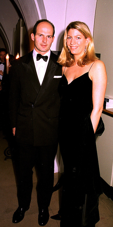 COUNT & COUNTESS RICCARDO PAVONCELLI she was Cosima Von Bulow,  at a dinner in London on 23rd October 1998.MLD 23
