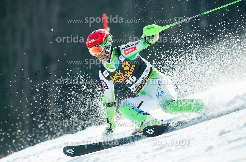 KUERNER Miha of Slovenia competes during 1st Run of Men Slalom race of FIS Alpine Ski World Cup 54th Vitranc Cup 2015, on March 15, 2015 in Kranjska Gora, Slovenia. Photo by Vid Ponikvar / Sportida
