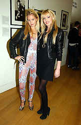 Left to right, MARISSA MONTGOMERY and PETRA ECCLESTONE daughter of Bernie Ecclestone at the opening of an exhibition entitled Exceptional Youth supported by Teen Vogue at the National Portrait Gallery, London on 3rd November 2006.<br />