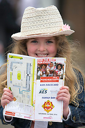 Repro Free: Punchestown 03/05/2014 Gianna Duffy from Kill Co Kildare is pictured enjoying the AES Amily Fun Day at Punchestown Racinh Festival. Picture Andres Poveda