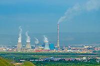 Mongolie, Oulan Bator, centrale geothermique // Mongolia, Ulan Bator, geothermal power