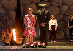 May 9, 2017 - Jerusalem, Israel - U.S. Chairman of the Joint Chiefs General Joseph Dunford, and his wife Ellyn stand for a moment of silence after placing a wreath at the Hall of Remembrance in memory of the victims of the Holocaust during a visit to the Yad Vashem Holocaust Memorial Museum May 9, 2017 in Jerusalem, Israel. (Credit Image: © Matty Stern/Planet Pix via ZUMA Wire)