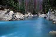 Vermillion River in fall. Kootenay National Park, southeast British Columbia