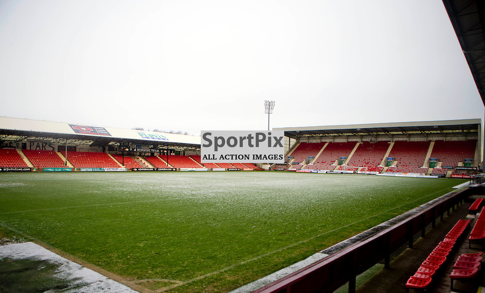 East End Park Match Postponed 16 January 2016<br /> Dunfermline Athletics match against Albion Rovers is postponed due to a frozen pitch<br /> (c) CRAIG BROWN   SportPix.org.uk