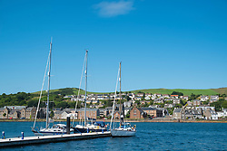 View of harbour at Campbeltown on Kintyre Peninsula in Argyll and Bute in Scotland United Kingdom