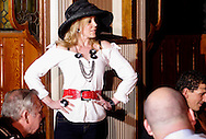 """Tammy Schaff during Mayhem & Mystery's production of """"Fashion Friction"""" at the Spaghetti Warehouse in downtown Dayton, Monday, March 21, 2011."""