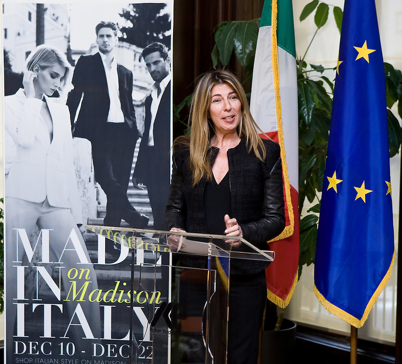 "Nina Garcia, Fashion Director of Marie Claire addresses press at the Italian Trade Commission's ""Made in Italy on Madison"" Launch Press Conference held at 2:00 PM on Thursday, December 10, 2009 at the Offices of the Italian Trade Commission, 33 East 67th Street, New York, NY."