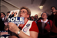 Bob Dole campaigning for the presidency in Iowa in January 1996.<br /> <br /> Photo by Dennis Brack