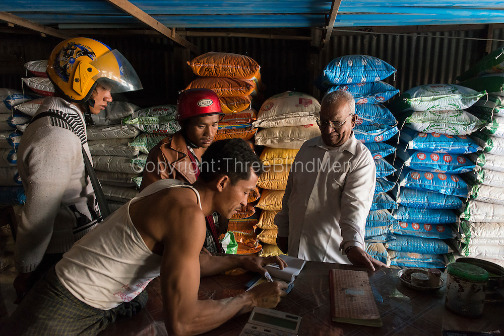 Mr. Sharwan Kumar in his Hardware store in Aungban.