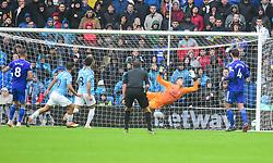 Sergio Aguero of Manchester City scores. - Mandatory by-line: Alex James/JMP - 22/09/2018 -  FOOTBALL - Cardiff City Stadium - Cardiff, Wales -  Cardiff City v Manchester City - Premier League
