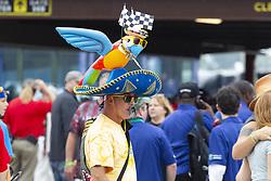 June 10, 2018 - Brooklyn, Michigan, U.S - A race fan walks through the pit area at Michigan International Speedway. (Credit Image: © Scott Mapes via ZUMA Wire)