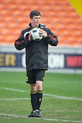 BLACKPOOL, ENGLAND - Wednesday, March 3, 2011: Liverpool's Joseph Rafferty before the FA Premiership Reserves League (Northern Division) match against Blackpool at Bloomfield Road. (Photo by David Rawcliffe/Propaganda)