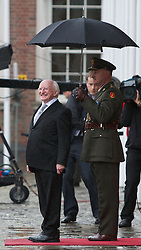 Lensmen Photographic Agency in Dublin, Ireland. <br /> On 11 November 2011, Michael D. Higgins was inaugurated as the ninth President of Ireland.