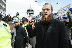 © Licensed to LOndon News Pictures FILE PICTURE 15/06/2010.London, UK: British Muslim convert Richard Dart speaking at a Muslims Against Crusades demonstration. Richard Dart was today (25/04/2013) sentenced to six years in prison for terrorism offences. Photo Credit LNP