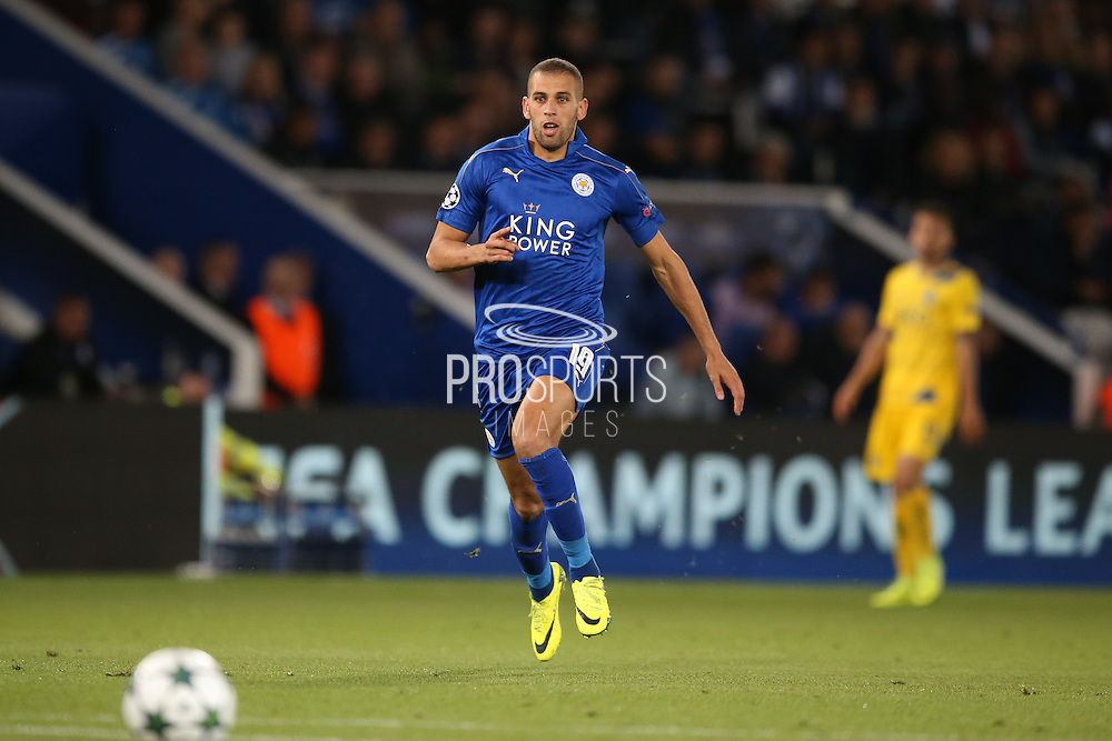 Leicester City forward Islam Slimani (19)  during the Champions League match between Leicester City and FC Porto at the King Power Stadium, Leicester, England on 27 September 2016. Photo by Simon Davies.
