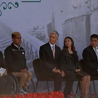 TOLUCA, México.- (Noviembre 20, 2018).- En el marco del 108 aniversario de la Revolución Mexicana el gobernador del Estado de México Alfredo del Mazo Maza realizó la entrega de la Presea Estatal del Deporte 2018, en donde se galardonó a los atletas que sobresalieron en su respectiva disciplina. Agencia MVT / Crisanta Espinosa.
