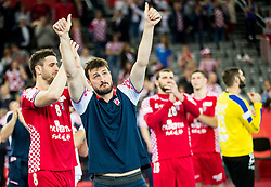 Domagoj Duvnjak of Croatia looks dejected after the handball match between National teams of Croatia and France on Day 7 in Main Round of Men's EHF EURO 2018, on January 24, 2018 in Arena Zagreb, Zagreb, Croatia.  Photo by Vid Ponikvar / Sportida