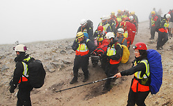 Busy day for Mountain Rescue crew on Croagh Patrick...Pic Conor McKeown