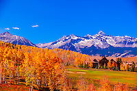 Golf course, Telluride Mountain Village, Telluride, Colorado USA.
