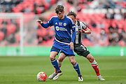 Josh MacDonald (Halifax) during the FA Trophy match between Grimsby Town FC and Halifax Town at Wembley Stadium, London, England on 22 May 2016. Photo by Mark P Doherty.