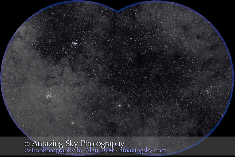 M6 and M7 area, field oriented equatorially, with Hutech-modified Canon 5D camera with 135mm f/2 Canon L lens at f/3.2 for 4 minutes each at ISO400. Stack of 4 exposures, averaged stacked. Taken from Coonabarabran, NSW, Australia, July 2006.