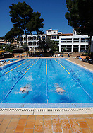 Hotel Beach Club Font de sa Cala in Capdepera, swimming pool..Mallorca,Spanien,