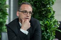 15 MAY 2019, BERLIN/GERMANY:<br /> Heiko Maas, SPD, Bundesaussenminister, waehrend einem Interview, Restaurant des Deutschen Bundestages, Reichstagsgebaeude<br /> IMAGE: 20190515-01-017