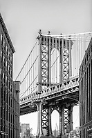 An icon of Brooklyn. The Manhattan Bridge towers in front of all those travelling down this well known street.