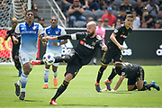 Los Angeles FC defender Laurent Ciman (23) in action during a MLS soccer match in Los Angeles, Saturday, May 5, 2018. (Eddie Ruvalcaba/Image of Sport)