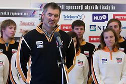 Coach Urban Planinsek of Slovenian Alpine Ski Team before new season 2008/2009, on Septembra 25, 2008, Ljubljana, Slovenia. (Photo by Vid Ponikvar / Sportal Images)