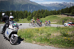 The chasing group approaching the top of the Mortirolo during the Giro Rosa 2016 - Stage 5. A 77.5 km road race from Grosio to Tirano, Italy on July 6th 2016.