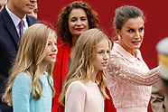 101219 Spanish Royals attend the national day parade