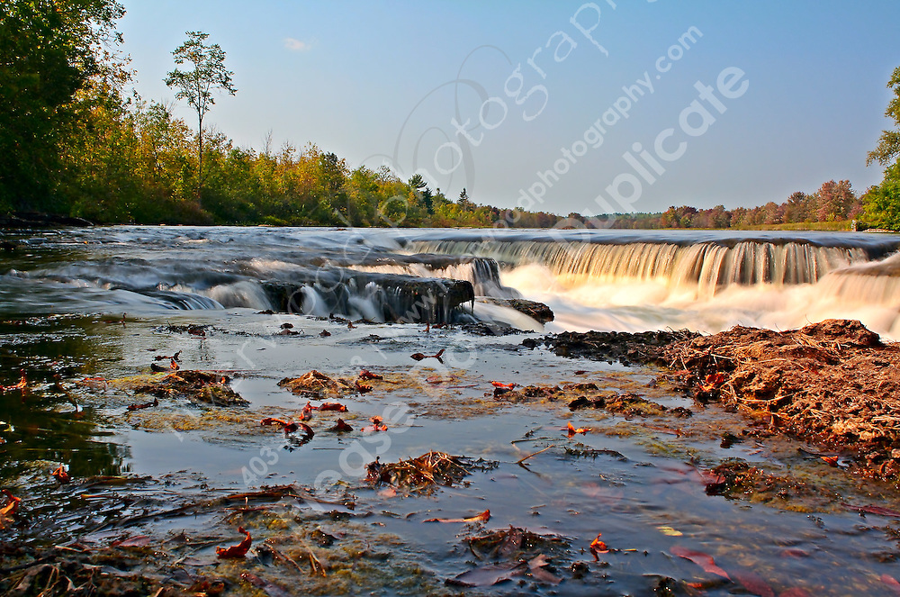 The waterfall at the Fourth Chute on the Bonnechere river, near Douglas and Eganville, in Northern Ontario.<br /> <br /> ©2007, Sean Phillips<br /> http://www.Sean-Phillips.com