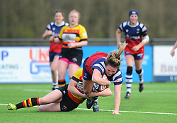 Sarah Bern of Bristol Bears Women scores a try - Mandatory by-line: Nizaam Jones/JMP - 23/03/2019 - RUGBY - Shaftesbury Park - Bristol, England - Bristol Bears Women v Richmond Women- Tyrrells Premier 15s