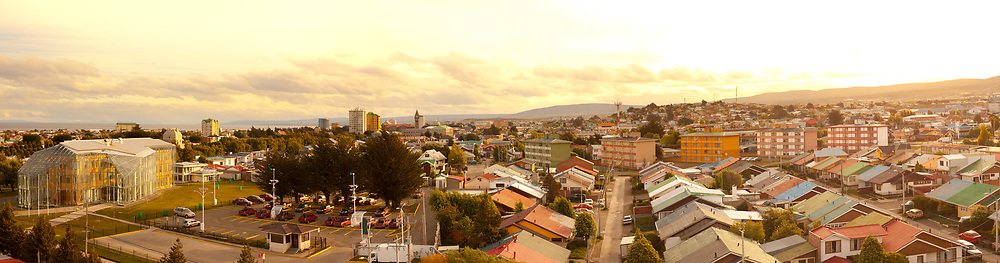 Panoramic view of Punta Arenas, Magallanes Region, Patagonia, Chile