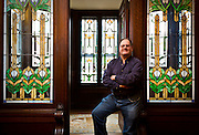 BARABOO, WI – JANUARY 23: Don Horowitz, co-owner of Wittendale's Florist and Greenhouses, poses for a portrait in the Al Ringling Mansion. Horowitz and his two business partners, Joe and Carmen Colossa purchased the property in 2013 and will open a bed and breakfast next year.