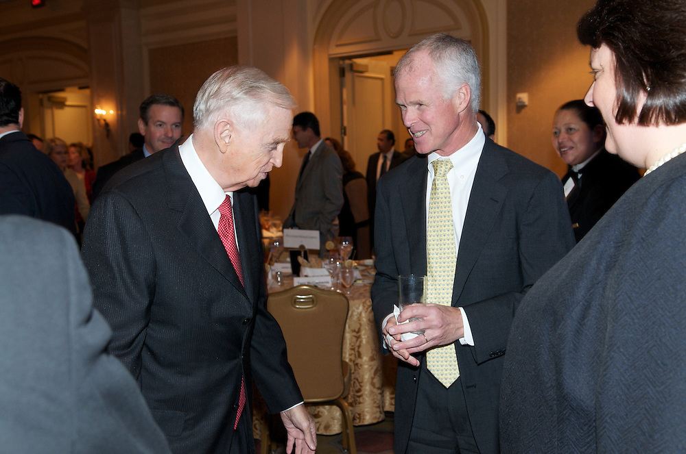 Mr. JW Marriott speaks at a luncheon for the Economic Club of Washington at the Ritz Carlton Washington DC