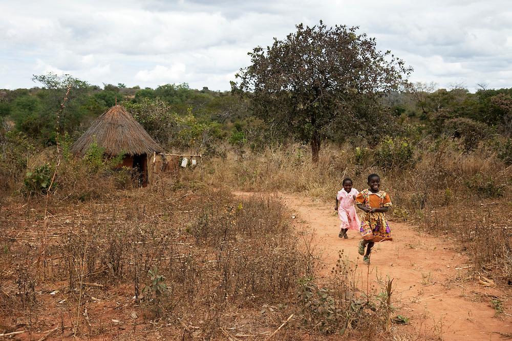 Juliana , grandmother who lives alone with two of her grandchildren. Hambale village, Chipembele ward, Zambia.