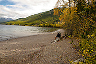 Apgar, Lake McDonald, Glacier National Park, Montana, Senior Couple