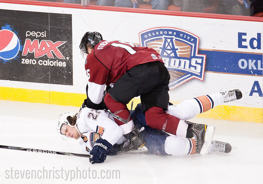 January 9, 2011: The Oklahoma City Barons play the Lake Erie Monsters in an American Hockey League game at the Cox Convention Center in Oklahoma City.