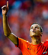 NETHERLANDS, Amsterdam In action for  scores the Ibrahim Afellay   4-0  The Netherlands versus Northern Irland during friendly soccer match between Netherlands vs Northern Irland in Rotterdam on June 2, 2012. AFP PHOTO/ ROBIN UTRECHT