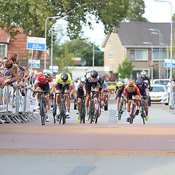 16-09-2018: Wielrennen: Olympia Tour: Beneden Leeuwen<br />slotrit Olympia Tour gewonnen door Marijn van den Berg van Delta Cycling Rotterdam.