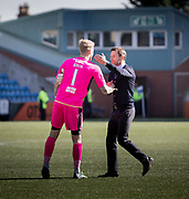 Dundee&rsquo;s interim manager Neil McCann and Scott Bain at the end - Kilmarnock v Dundee in the Ladbrokes Scottish Premiership at Rugby Park, Kilmarnock, Photo: David Young<br /> <br />  - &copy; David Young - www.davidyoungphoto.co.uk - email: davidyoungphoto@gmail.com