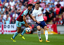 Eric Dier of Tottenham Hotspur passes the ball past Jack Cork of Burnley - Mandatory by-line: Robbie Stephenson/JMP - 27/08/2017 - FOOTBALL - Wembley Stadium - London, England - Tottenham Hotspur v Burnley - Premier League